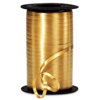 RS-16 Dark Gold-curling ribbon spool  3/16in. , 500 yards