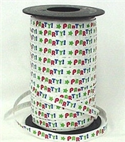 "RSP-07""PARTY!"" Ribbon.   Spool: 3/8in. x 250 yards"