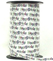 "RSP-08 ""Happy Birthday!"" Ribbon Spool 3/8in. x 250 yards"