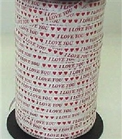 "RSP-26 ""I Love you"" with Hearts on white 3/16in. x 500yds"
