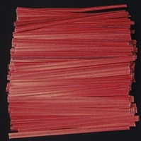 "TP-01 Red paper twist tie. 3 1/2"" Length Quantity 2,000"