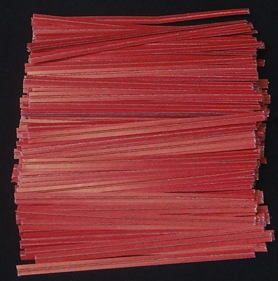 "TP-01-100 Red paper twist tie.  3 1/2"" Length Quantity 100"