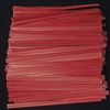 "TP-01-500 Red paper twist tie. 3 1/2"" Length Quantity 500"