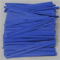 "TP-02-100 Blue paper twist tie. 3 1/2"" Length Quantity 100"