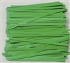 "TP-03-100 Green paper twist tie. 3 1/2"" Length Quantity 100"