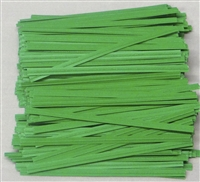 "TP-03-500 Green paper twist tie. 3 1/2"" Length Quantity 500"