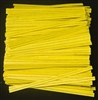 "TP-04-100 Yellow paper twist tie. 3 1/2"" Length Quantity 100"
