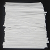 "TP-05-100 White paper twist tie. 3 1/2"" Length Quantity 100"
