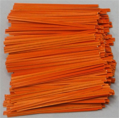"TP-07-100 Orange paper twist tie. 3 1/2"" Length Quantity 100"