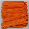 "TP-07-500 Orange paper twist tie. 3 1/2"" Length Quantity 500"