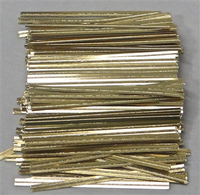 "TP-08-100 Gold paper twist tie. 3 1/2"" Length Quantity 100"
