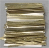 "TP-08-500 Gold paper twist tie. 3 1/2"" Length Quantity 500"