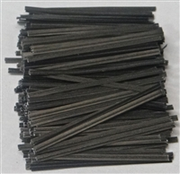 "TP-10 Black paper twist tie. 3 1/2"" Length Quantity 2,000"