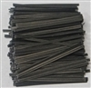 "TP-10-100 Black paper twist tie. 3 1/2"" Length Quantity 100"