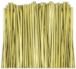 "TT-01-100 Metallic Gold twist tie. 3 1/2"" Length Quantity 100"
