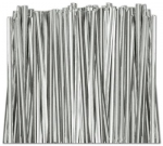 "TT-02 Metallic Silver twist tie. 3 1/2"" Length Quantity 2,000"