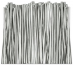 "TT-02-100 Metallic Silver twist tie. 3 1/2"" Length Quantity 100"