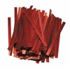 "TT-03-100 Metallic Red twist tie. 3 1/2"" Length Quantity 100"