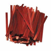 "TT-03-500 Metallic Red twist tie. 3 1/2"" Length Quantity 500"