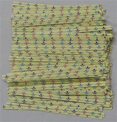 "TTP-07-100 Printed Paper Spring Flowers twist tie. 3 1/2"" Length Quantity 100"