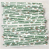 "TTP-14-500 Printed Paper ""Happy Holidays"" twist tie. 3 1/2"" Length Quantity 500"