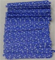"TTP-15-100 Printed Paper Snowflakes on blue twist tie. 3 1/2"" Length Quantity 100"
