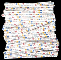 "TTP-16-100 Printed Paper ""Celebration"" twist tie. 3 1/2"" Length Quantity 100"