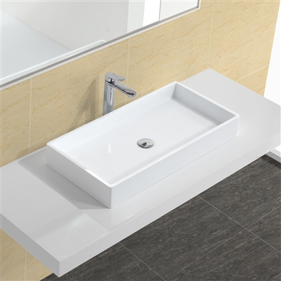 matte white braden vessel sink