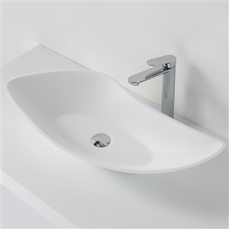 matte white Lily vessel sink