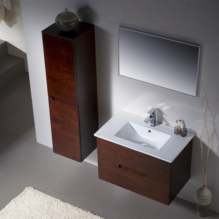 Wall Mounted Bathroom Vanity Vanity Elton 32 With Porcelain Top