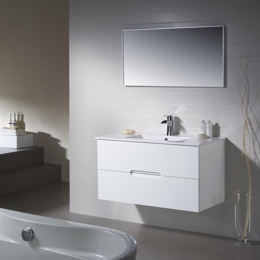 Large Single Sink Vanity Vanity Elton 40 With Porcelain Top