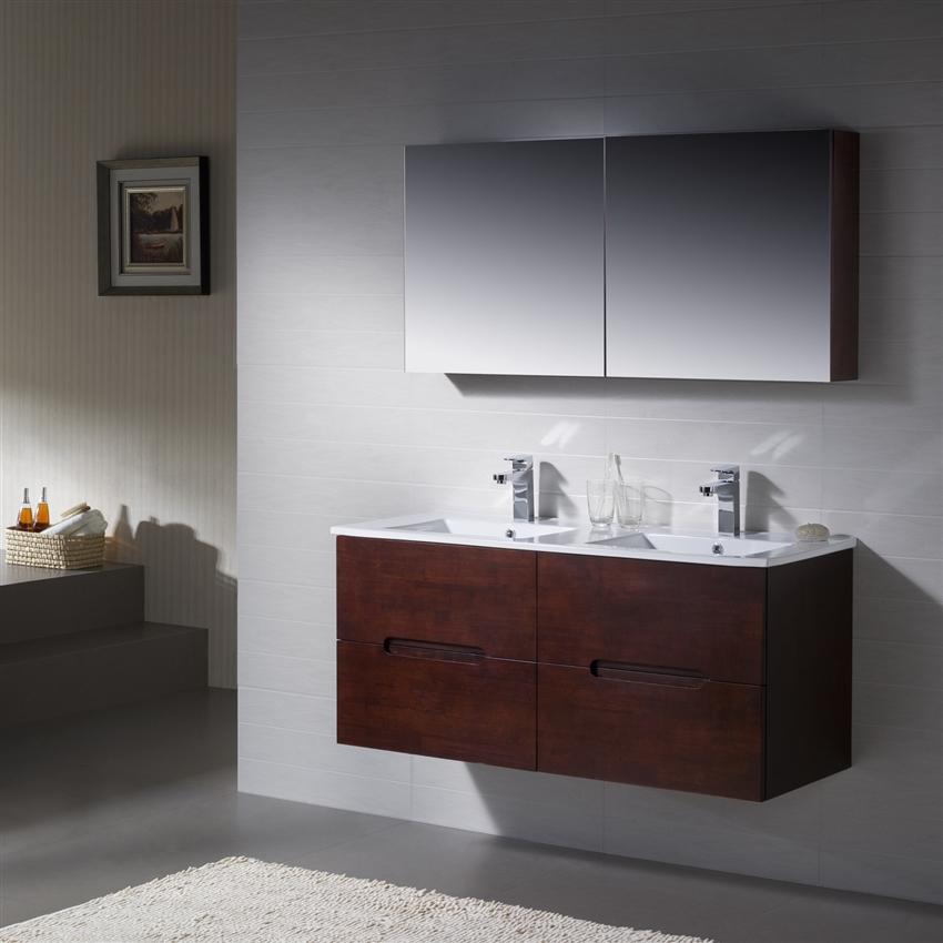 Vanity Elton 48 Double With Porcelain Top 48 Double Sink Vanity