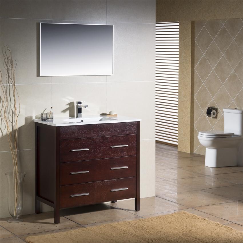 Freestanding Bathroom Vanity 36 Bathroom Vanity With Storage Cabinet