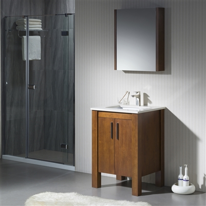 Vanity Parsons 25 with Quartz Stone