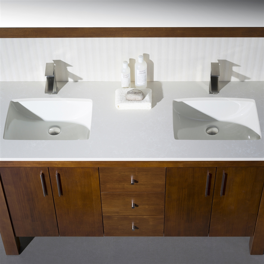Vanity Parsons 60  Double With Quartz Stone