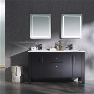 Vanity Parsons 60 Double with Solid Surface Top