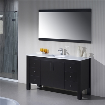 Vanity Parsons 60 Single with Quartz Stone