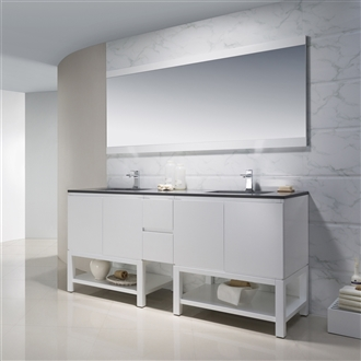 Vanity Emmet 72 Double with Quartz Stone
