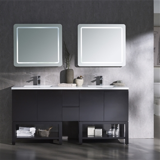 Vanity Emmet 72 D - Solid Surface