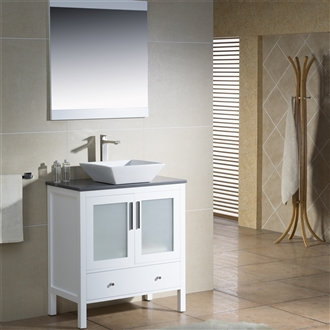 Vanity Fulton 32 with Vessel Sink
