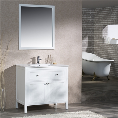 Vanity Victoria 37 with Porcelain Top