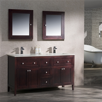 Vanity Victoria 60 Double with Quartz Stone