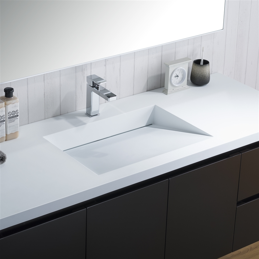 Inolav Adams 60 Inch Bathroom Counter With Infinity Style Sink
