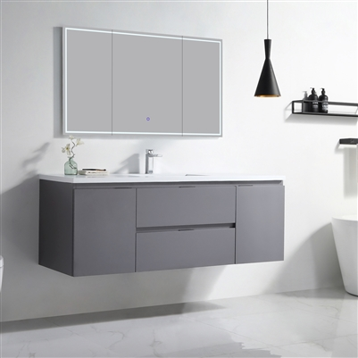 Vanity Logan 60 S - Solid Surface