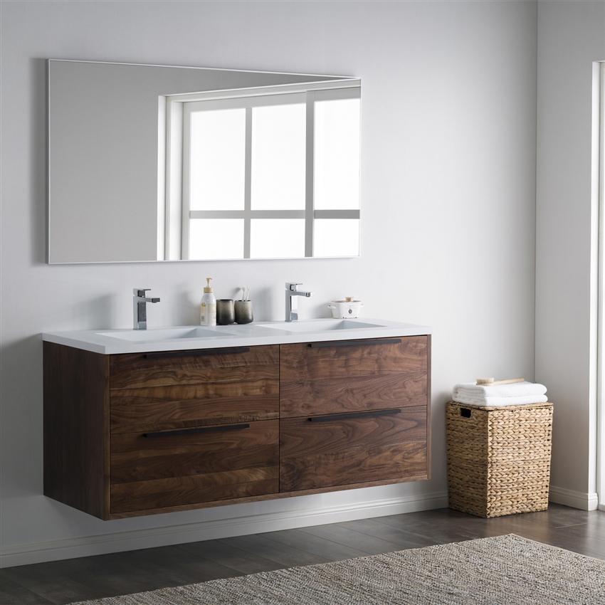 Inolav Alfred 60 Vanity Solid Surface Top Floating Bathroom Vanity