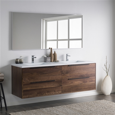 Vanity Alfred 72 D - Solid Surface