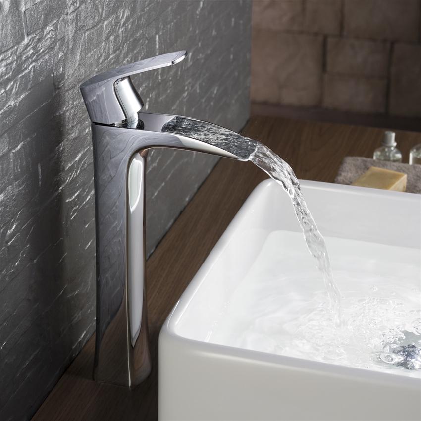 Modern Single Lever Vessel Faucet | Chloe Vessel Faucet