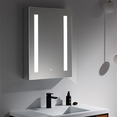 Lighted Mirror Cabinet 24""