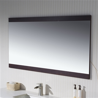"Mirror with Wood Sides 40"" to 72"""