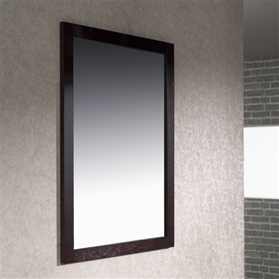 Inolav 24 X 31 5 Framed Mirror Walnut Chestnut Espresso White